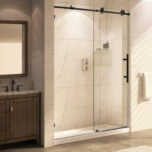 Trident Mocha 60u0027u0027 X 76u0027u0027 Single Sliding Frameless Shower Door