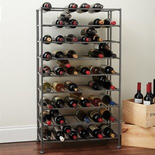 Folding Metal 54 Bottle Floor Wine Rack