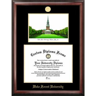 NCAA Wake Forest Demon Deacons Gold Embossed Diploma with Campus Images Lithograph Frame By Campus Images