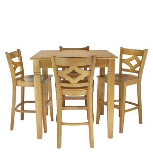 Mignone 5 Piece Pub Table Set Bloomsbury Market