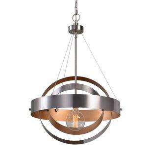 Wrought Studio Chaney 1 -Light LED Globe Pendant