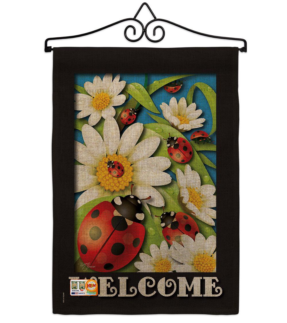 Breeze Decor Ladybug Heaven 2 Sided Polyester 19 X 13 In Garden Flag Wayfair