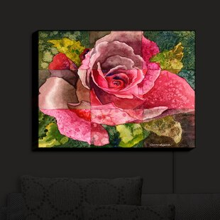 Red Barrel Studio Partitioned Rose 3' Print on Fabric