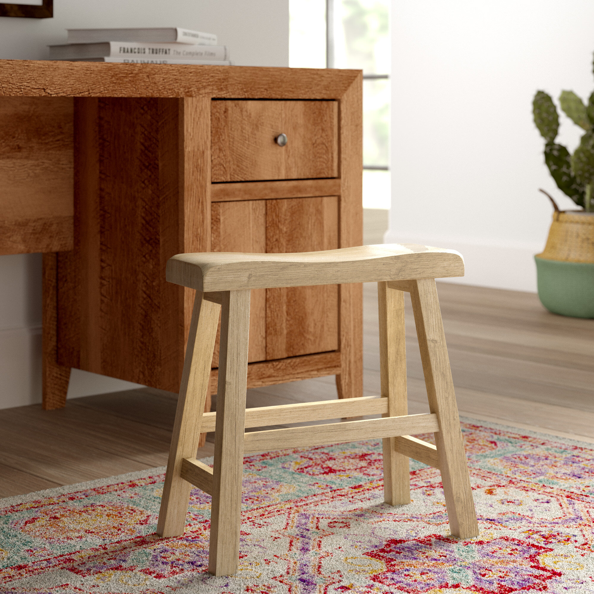 Wood Accent Stools You Ll Love In 2021 Wayfair