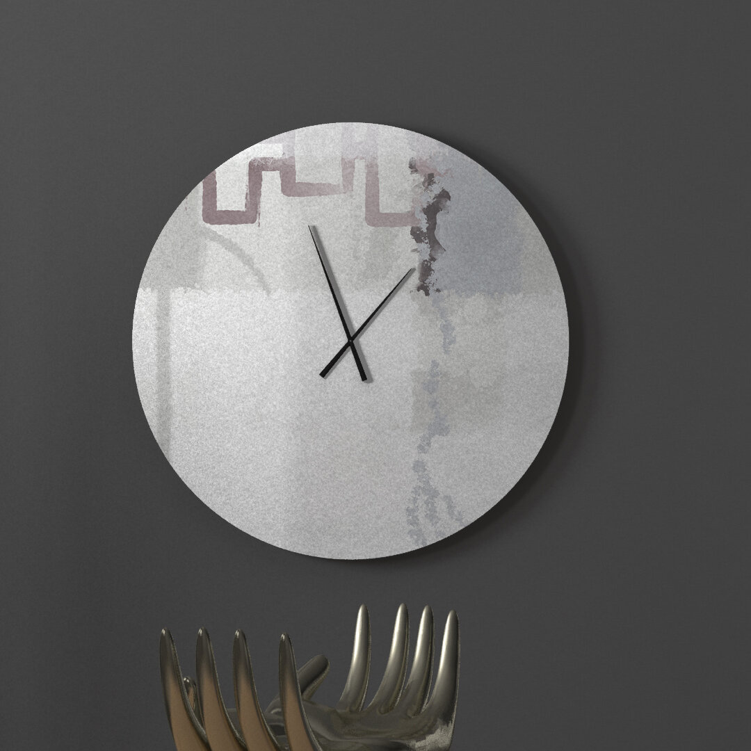 Latitude Run Virtuous Courtly Abstract Metal Wall Clock Wayfair