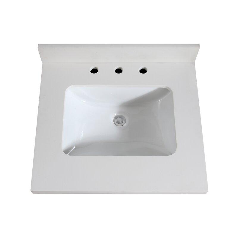 Quartz 25 Single Bathroom Vanity Top Buy Online In Aruba At Aruba Desertcart Com Productid 134200017