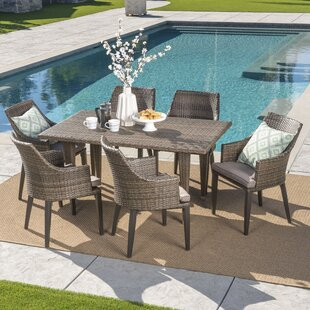 Schall 7 Piece Dining Set with Cushions by Bungalow Rose