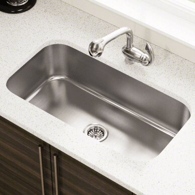 Polaris Sinks 32 25 L X 18 W Single Bowl Undermount Stainless Steel Kitchen Sink Wayfair