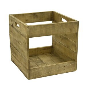 Record Storage Wood Crate