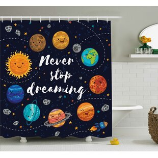 Pauline Quotes Cute Outer Space Planets and Star Cluster Solar Moon and Comets Sun Cosmos Image Single Shower Curtain
