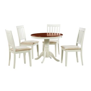 Coby 5 Piece Solid Wood Dining Set Alcott Hill