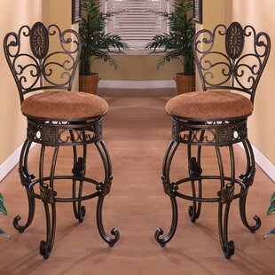 Wherry 30 Swivel Bar Stool (Set of 2) Fleur De Lis Living