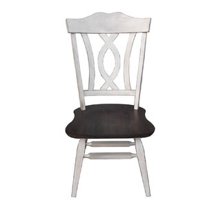 Leslie Solid Wood Dining Chair Ophelia & Co.