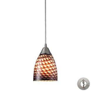 Ammara 1-Light Cone Pendant by Latitude Run