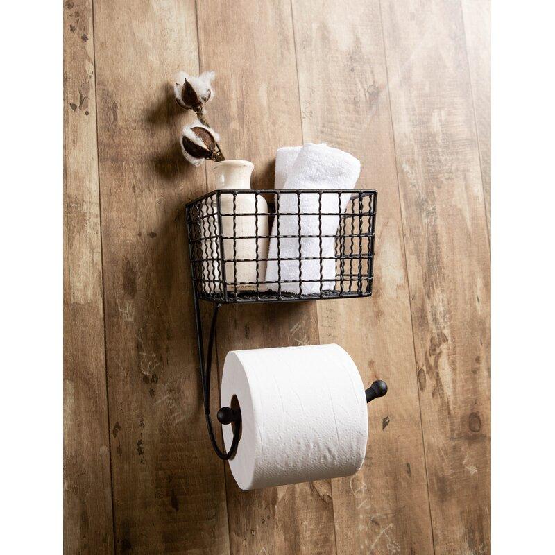 bathroom decor Iron Toilet Paper Holder Oil Rubbed Bronze TP holder Farmhouse