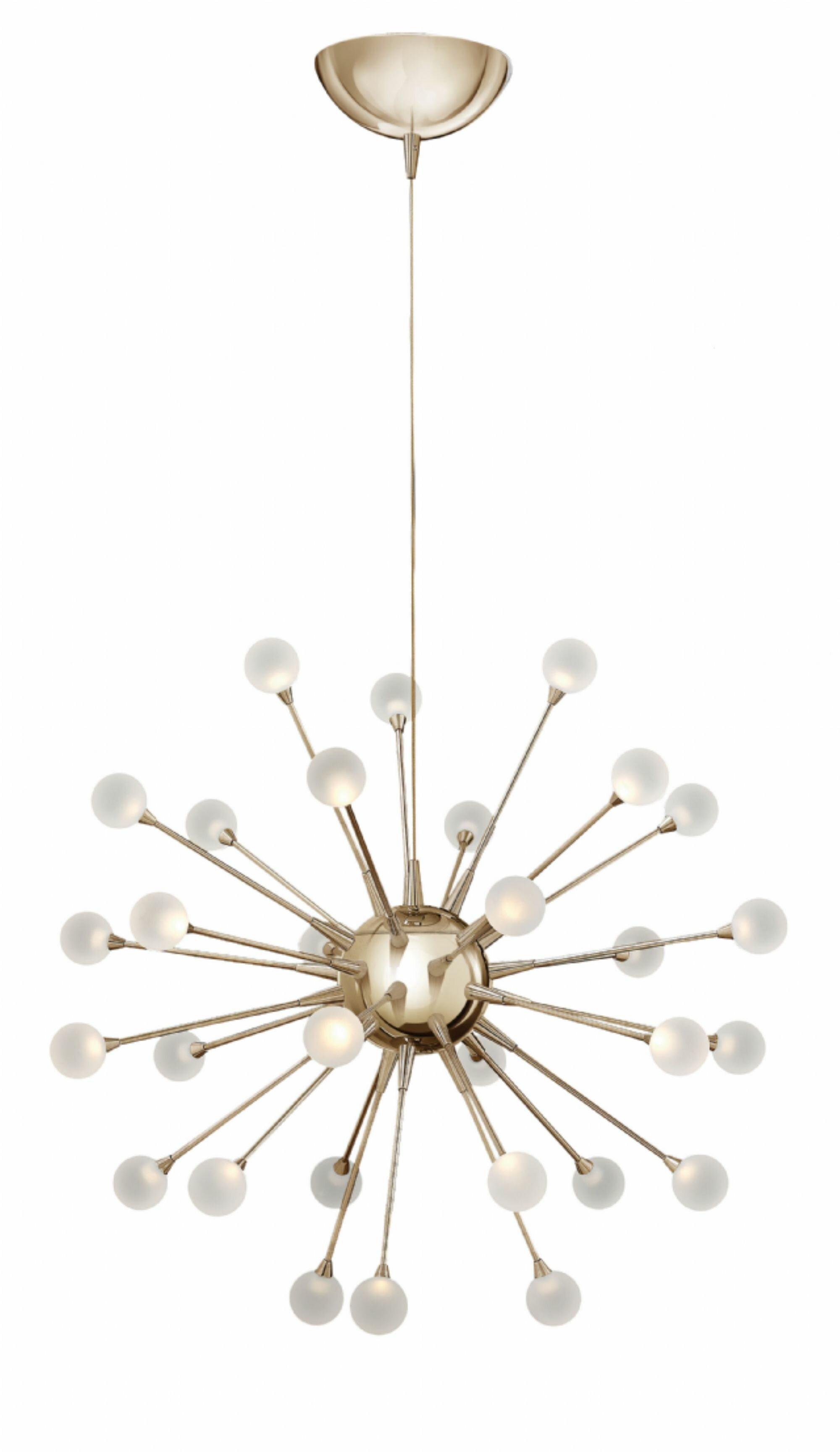 chandelier urchin lt painted mini products uber light chrome varaluz pendant