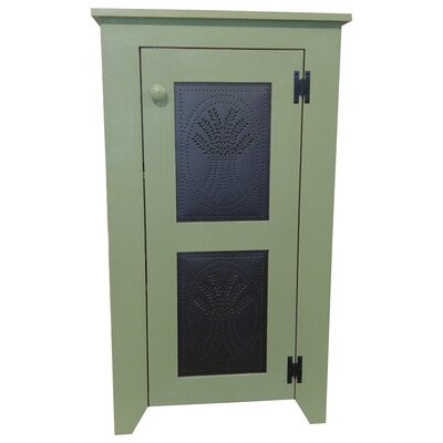 Ossett Punched Tin Accent Cabinet August Grove Color: Old Gold