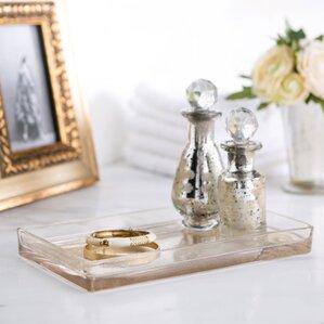 crackle glass bathroom accessories. Mercury Glass Vanity Bathroom Accessory Tray Accessories You ll Love  Wayfair