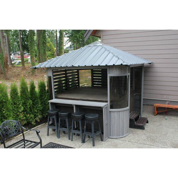 westviewmanufacturing zento 95 ft w x 95 ft d wood permanent gazebo reviews wayfair - Garden Sheds 5 X 9