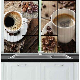 Kitchen Curtains Coffee Theme Wayfair