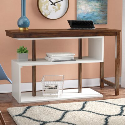 Mattocks Solid Wood L-Shape Writing Desk Brayden Studio Finish: Walnut/White