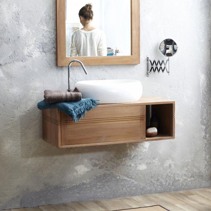 Basic 95cm Wall Mounted Under Sink Storage Unit