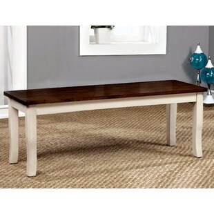 Marilou Wood Bench by August Grove