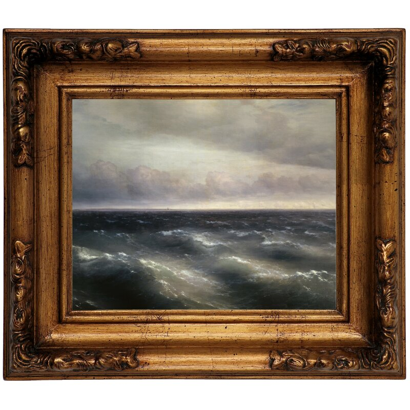Highland Dunes The Black Sea A Storm Begins To Whip Up In The Black Sea 1881 Framed Oil Painting Print On Canvas Wayfair