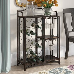 Darby Home Co Floyd Metal Storage 21 Bottle Floor Wine Bottle Rack