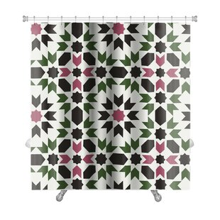 Charlie Islamic Geometric Premium Single Shower Curtain