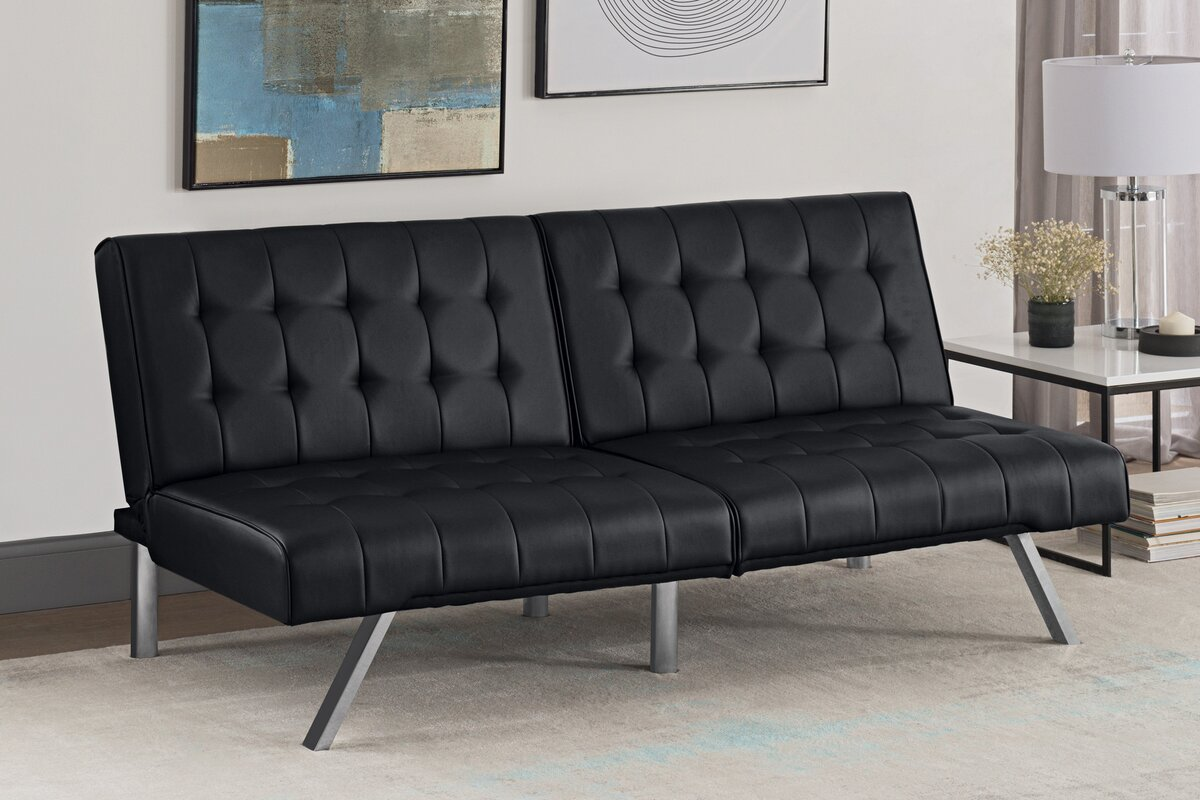 littrell convertible sofa wade logan littrell convertible sofa  u0026 reviews   wayfair  rh   wayfair