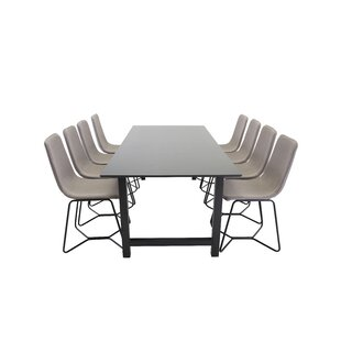Nekoosa Dining Set With 8 Chairs By 17 Stories