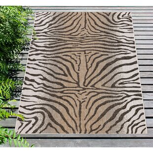 Osman Zebra Sand/Gray Indoor/Outdoor Area Rug