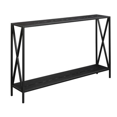 Abbottsmoor Metal Frame Console Table Color: Black by Andover Mills