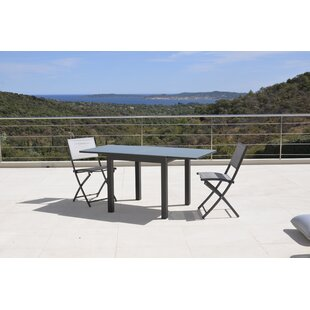 Tiya Extendable Aluminium Dining Table By Sol 72 Outdoor
