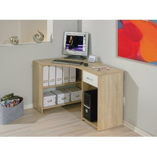 Levin L-Shape Computer Desk By Mercury Row