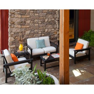 Club 5-Piece Set Sunbrella Sofa Seating Group with Cushions