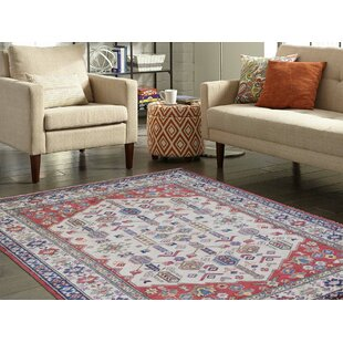 Buying One-of-a-Kind Fonville Shiraz Design Hand-Knotted 5'2 x 6'9 Wool Red/White Area Rug By Isabelline