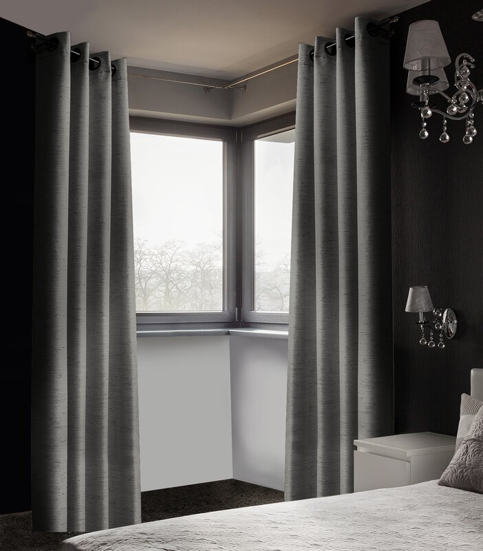 arends solid blackout thermal grommet curtain panels