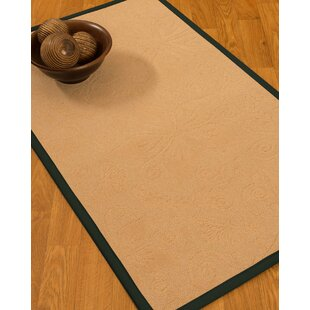 Vanmeter Border Hand-Woven Wool Beige/Onyx Area Rug By Red Barrel Studio