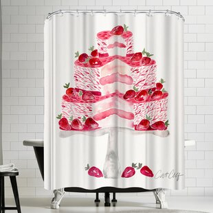 Strawberry Short Cake Single Shower Curtain