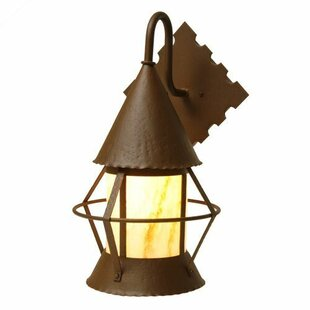 Reviews Gig Harbor 1-Light Outdoor Wall Lantern By Steel Partners