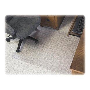 Checkered Medium Pile Carpet Beveled Edge Chair Mat By Deflect-O Corporation