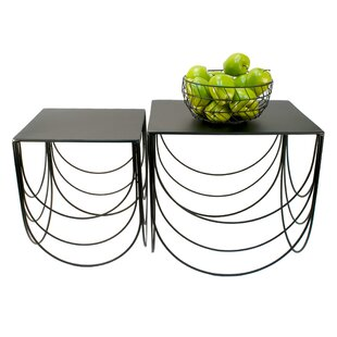 Height Scallop 2 Piece Nesting Tables