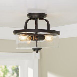 Poteau 2-Light Semi Flush Mount by Trent Austin Design