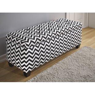 Latitude Run Peyser 10 Button Upholstered Storage Bench