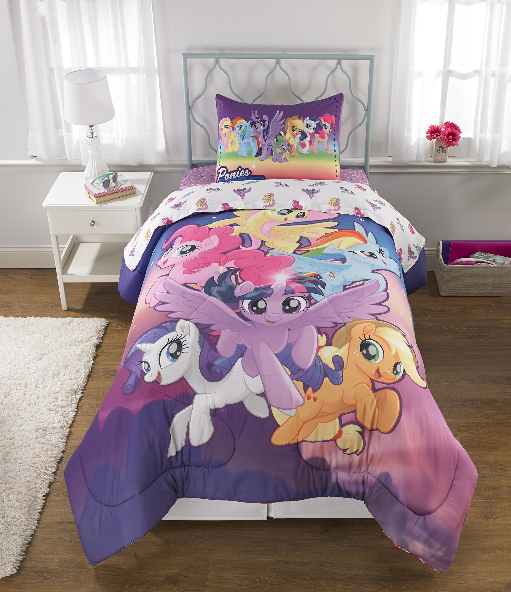 Copriletto My Little Pony.Franco Manufacturing My Little Pony Twinkle Adventure Reversible Comforter Set Reviews Wayfair