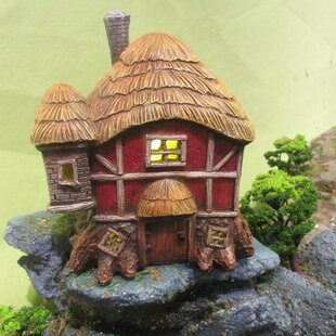 Fairy Garden Thatched Roof Barn Statue by Hi-Line Gift Ltd.