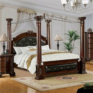Apsel Upholstered Canopy Bed