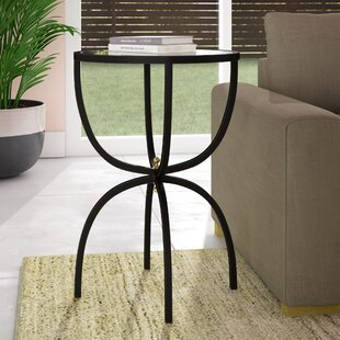 Taraska Metal and Mirror End Table by Ivy Bronx